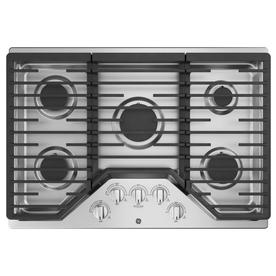 GE 5-Burner Gas Cooktop (Stainless steel) (Common: 30 -in; Actual: 30-in) JGP5030SLSS