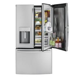 Ge 27.8-Cu Ft French Door Refrigerator With Ice Maker And Door Within Door Fingerprint-Resistant Stainless Steel Stainl