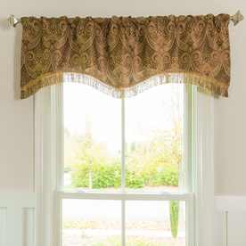 Style Selections Raja 16 In Polyester Rod Pocket Valance