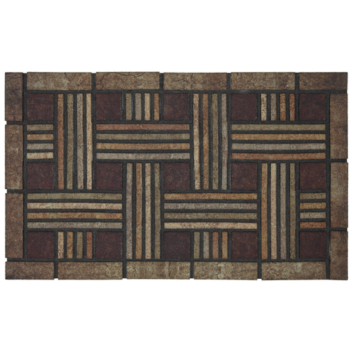 Style Selections Rectangular Door Mat (Actual: 18-in x 30-in) 4798-16114-18X30