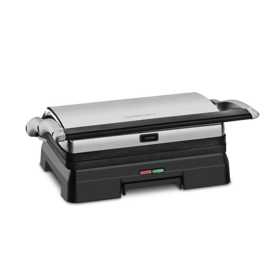 Cuisinart 6.5-in L x 10.25-in W Non-Stick Contact Grill in Chrome | GR-11