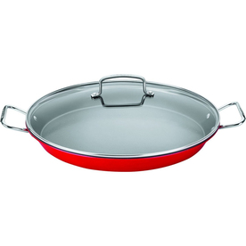 Cuisinart 2-Piece 15-In Stainless Steel Paella Pan With L...