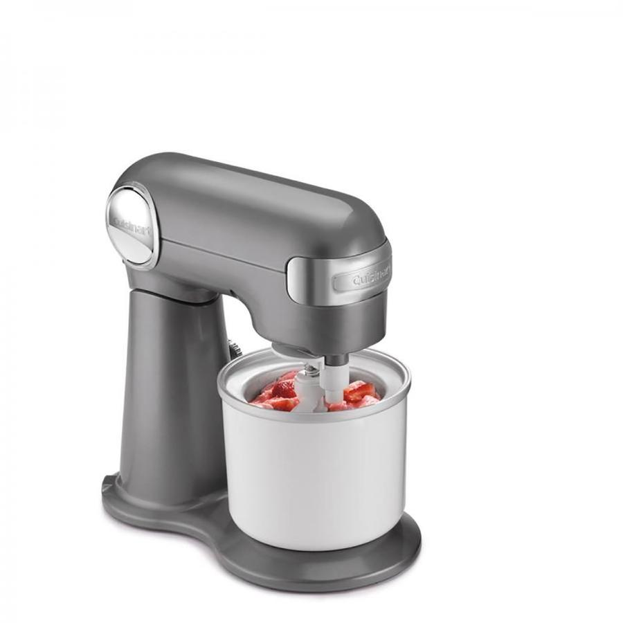 Cuisinart Stand Mixer Residential Stainless Steel Ice Cream Maker Attachment in White | IC-50