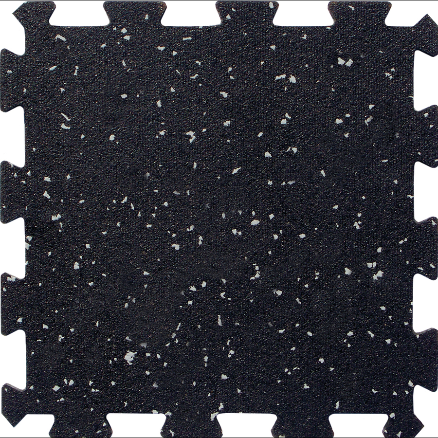 Apache Mills Inc 12 Pack In X Black With Gray Specks Loose Lay Color Flecked Rubber Tile Multipurpose Flooring At Lowes