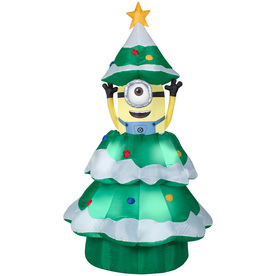 Gemmy 6.98-ft x 3.77-ft Animatronic Lighted Minion Christmas Inflatable 19368