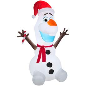 Shop Gemmy 6 00 Ft Lighted Frozen Olaf The Snowman