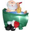 Holiday Living 3.8-ft Christmas Inflatable Fabric Santa In Bathtub