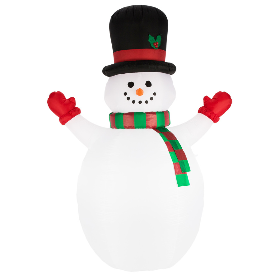 Holiday Living 10 01 Ft Lighted Snowman Christmas Inflatable In The Christmas Inflatables Department At Lowes Com