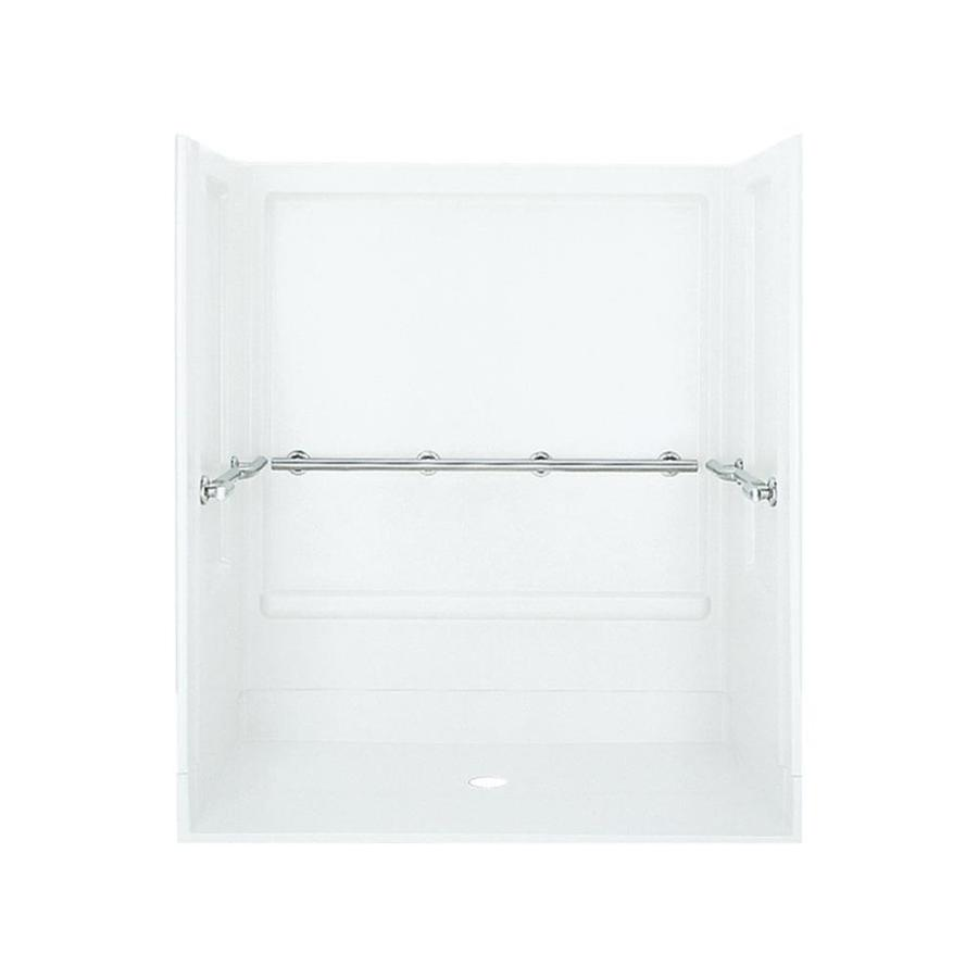 Sterling Roll-in White 4-Piece Alcove Shower Kit 40-in x 63-in 62060103-0