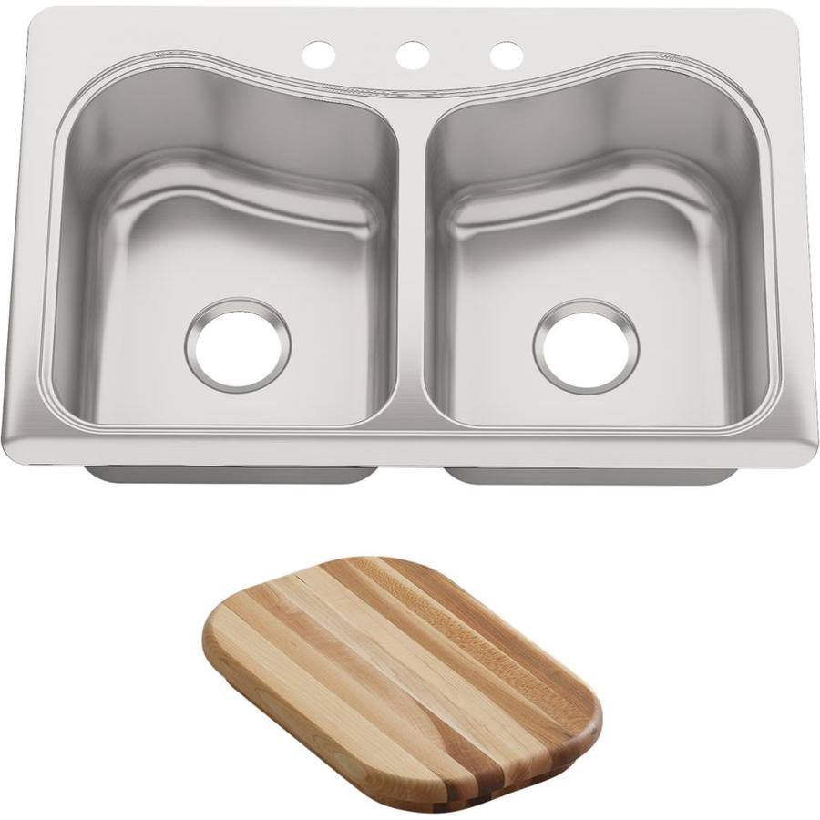 Shop Kohler Staccato 22 In X 33 In Stainless Steel Double