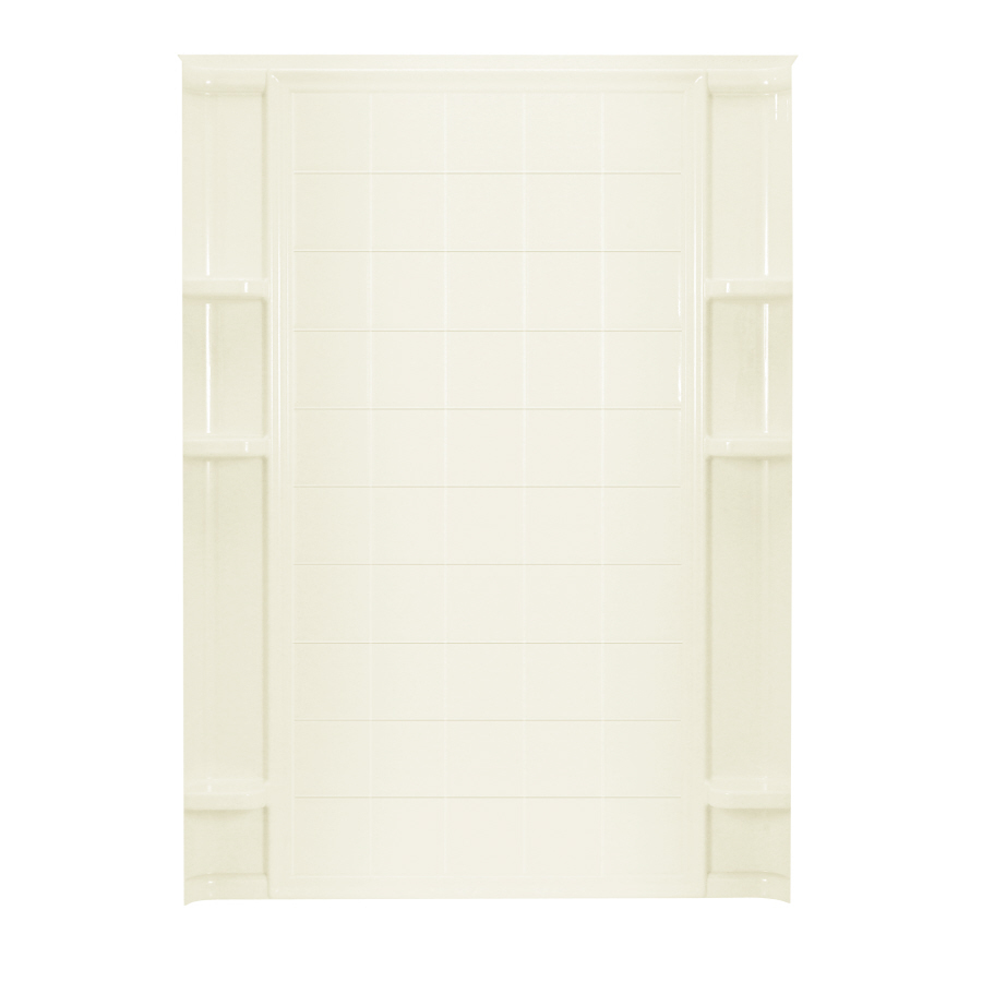 Ensemble 72.5-in x 72.5-in Biscuit Shower Surround Back Wall Panel in Off-White | - Sterling 72132100-96