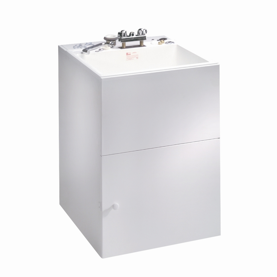 Lowes Sink Cabinets: Shop Crane Plumbing Composite Laundry Sink In White