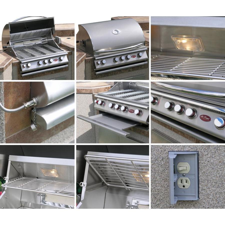 Cal Flame Modular Outdoor Kitchen Modular Bar Counter In The Modular Outdoor Kitchens Department At Lowes Com