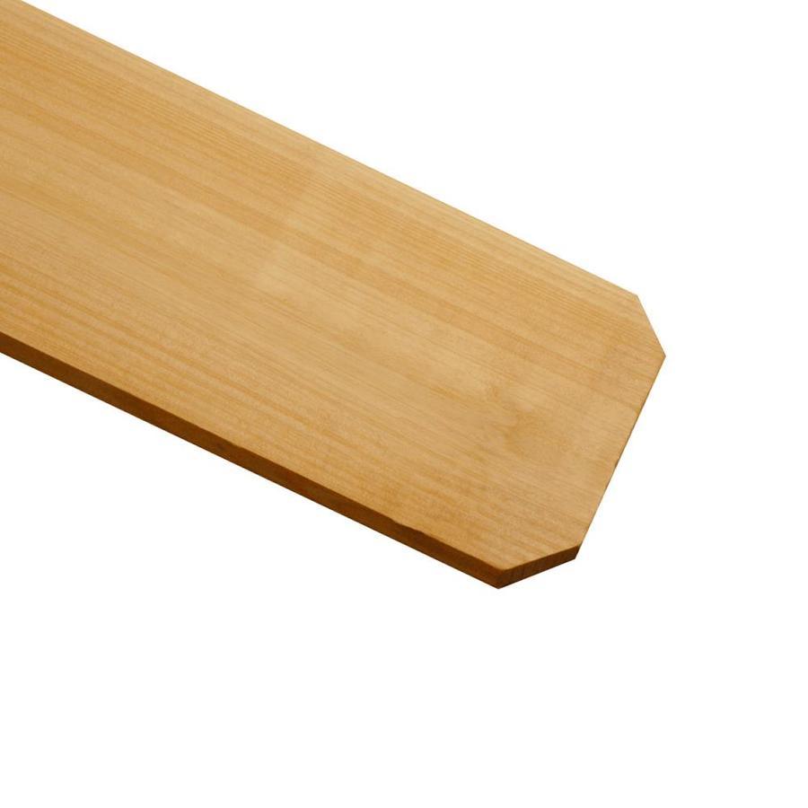 Shop Cedar Dog-Ear Wood Fence Picket (Common: 1-in x 6-in ...