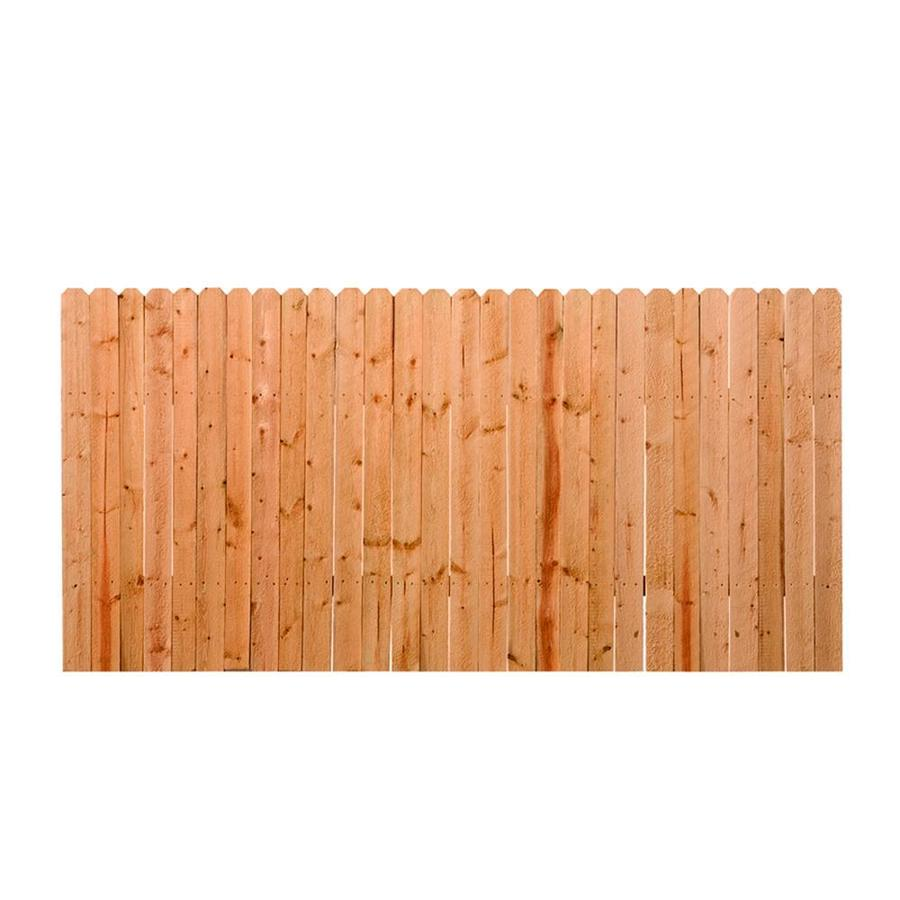 Shop Spruce Dog Ear Pressure Treated Wood Fence Privacy