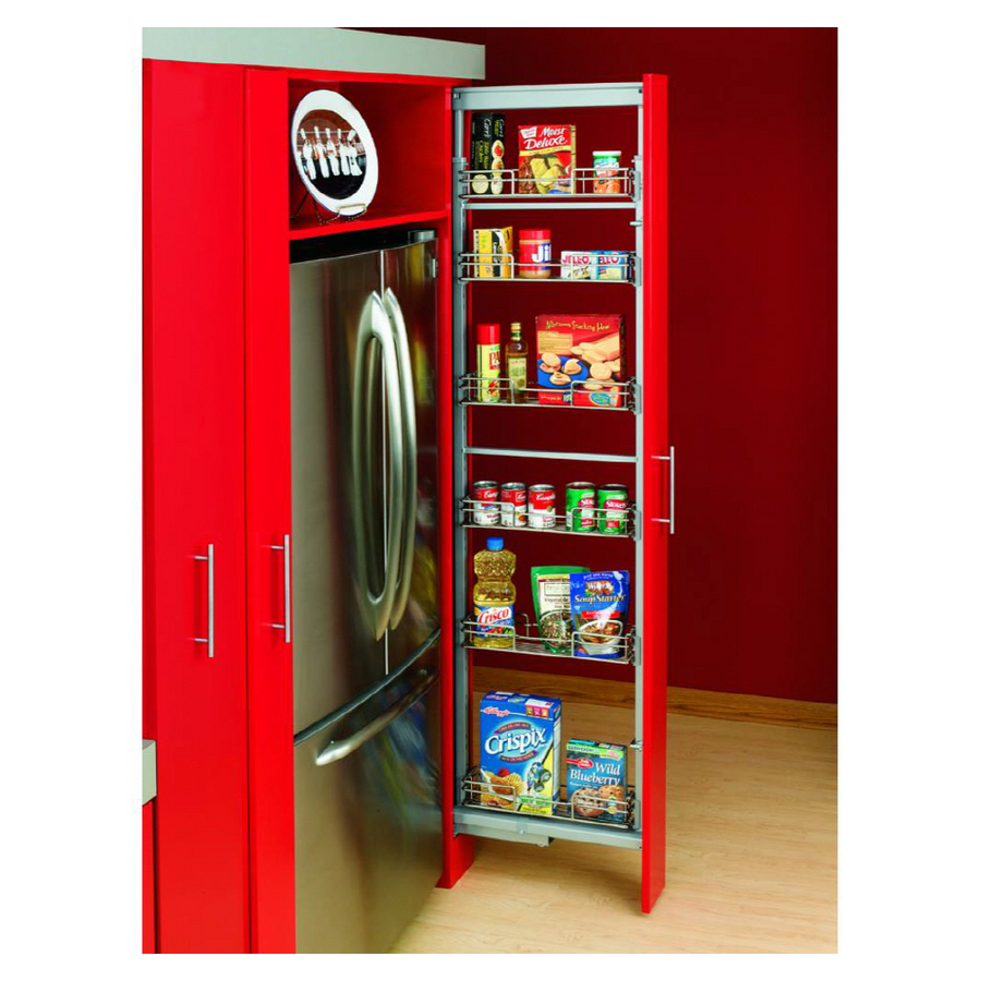 """Pantry Shelving Systems Lowes: Shop Rev-A-Shelf 6-Basket Pull-Out Pantry For 15"""" Width"""