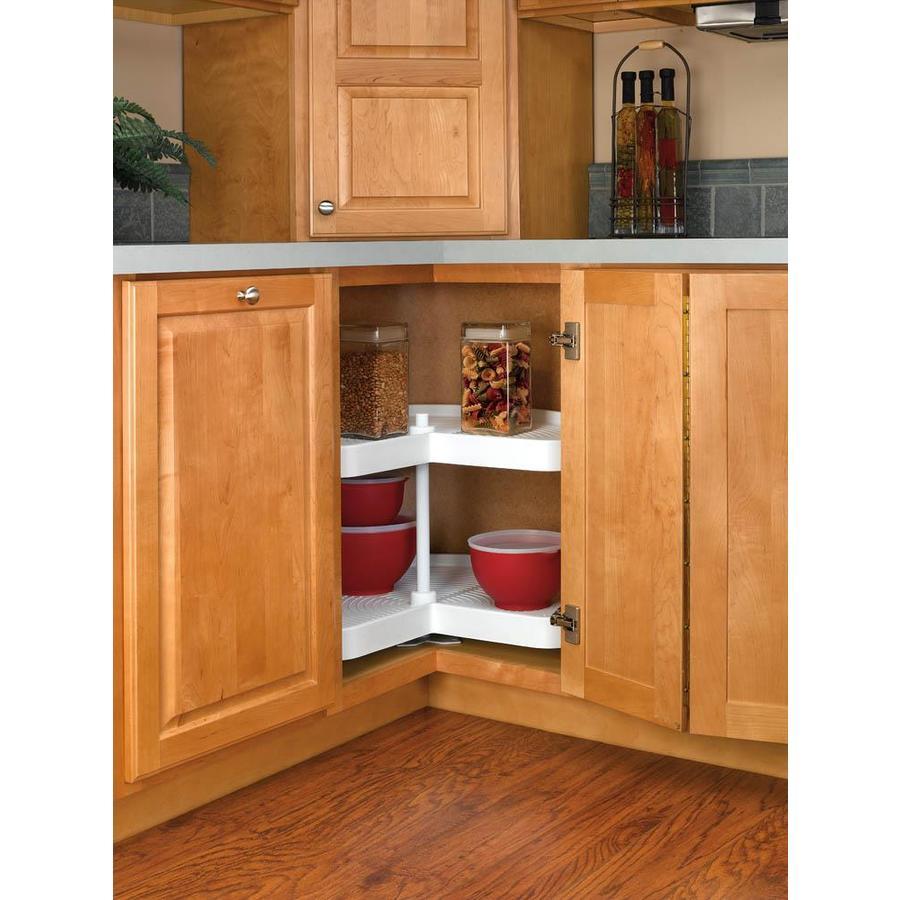 Shop Rev-A-Shelf 2-Tier Plastic Kidney Cabinet Lazy Susan ...