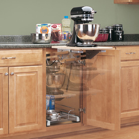 rev a shelf 5 in w x 5 in d x 5 in h 1 tier metal pull out Under Cabinet Pull Out Baskets Kitchen Cabinet with Wicker Basket Inserts