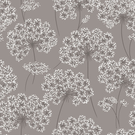 Display product reviews for 30-sq ft Grey Vinyl Floral Peel And Stick Wallpaper