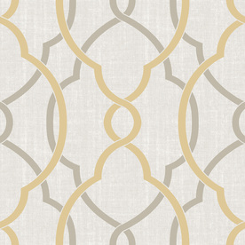 Display Product Reviews For 30 Sq Ft Yellow Vinyl Geometric Peel And Stick Wallpaper