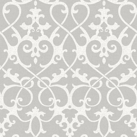 Display Product Reviews For 30 75 Sq Ft Grey Vinyl Damask L And Stick Wallpaper
