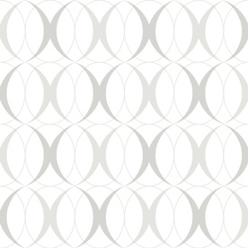 Display Product Reviews For 30 Sq Ft Silver Vinyl Geometric L And Stick Wallpaper