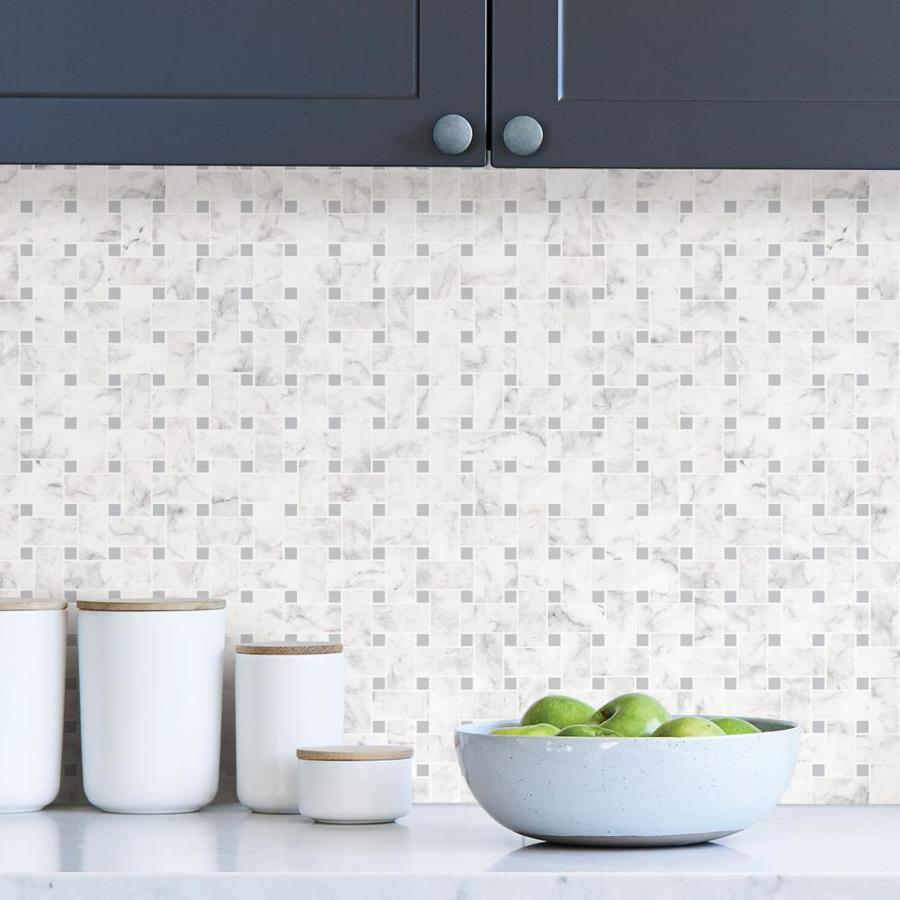 - InHome Bianco Carrara Tile Peel And Stick Backsplash In The Wall
