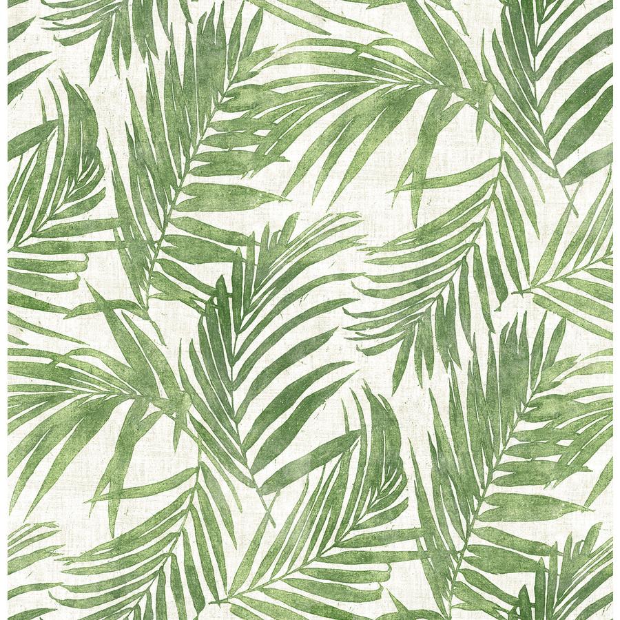 Scott Living 30.75-sq ft Green Vinyl Ivy/Vines Self-Adhesive Peel and Stick Wallpaper | SLW3405