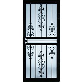 Larson Gardenview Amp Courtyard Black Steel Security Storm