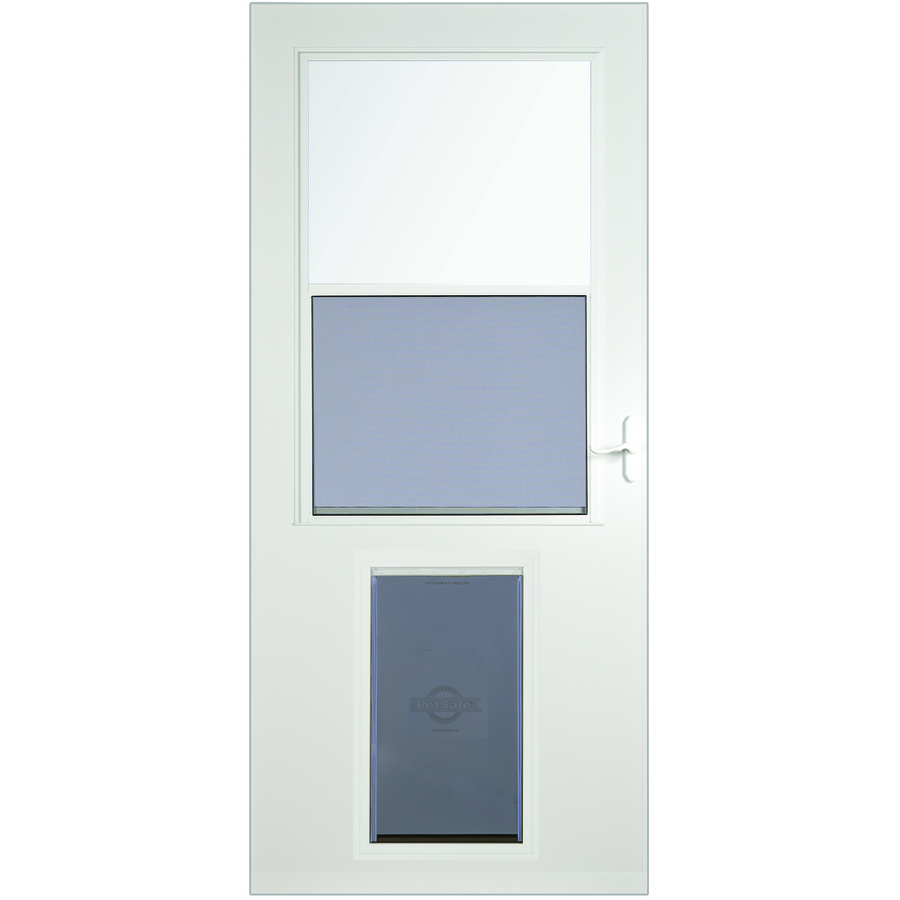 Shop Larson Pet Door Xl White High View Tempered Glass