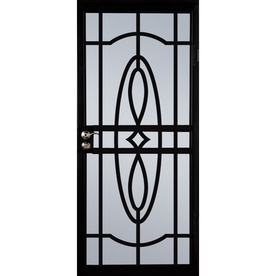 Larson St Charles 36 Black Steel Security Storm Door