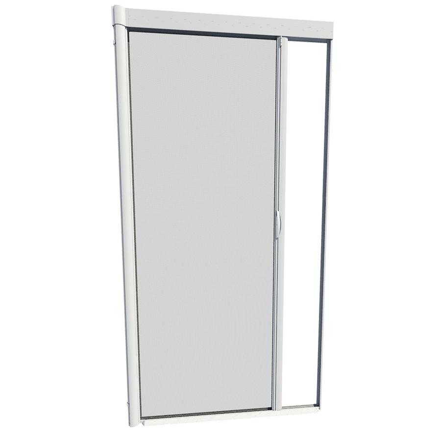 Shop Larson 39 In X 79 In White Retractable Screen Door At