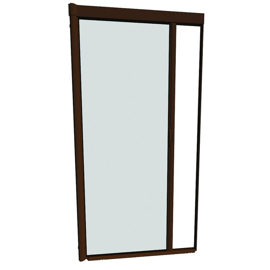 Retractable Garage Door Screen Cost: Shop LARSON 48-in X 91-in Brownstone Retractable Screen