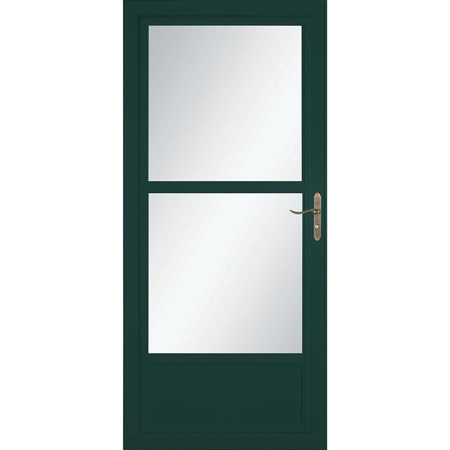 LARSON Tradewinds 36-in x 81-in Green Mid-View Aluminum Storm Door | 1460612220
