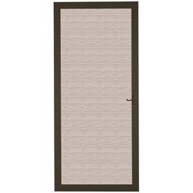 LARSON Pembrook Brown Aluminum Hinged Screen Door (Common...
