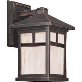 Forte 10-In H Painted Rust Outdoor Wall Light Lw17730128