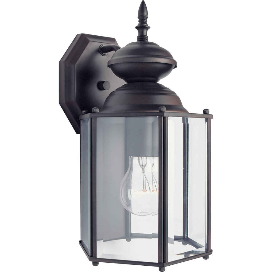 Shop 13-in H Antique Bronze Outdoor Wall Light At Lowes.com