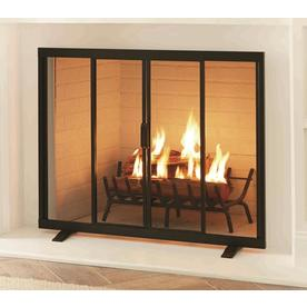 Display Product Reviews For 38 97 In Black Powder Coated Steel Flat Twin Fireplace Screen