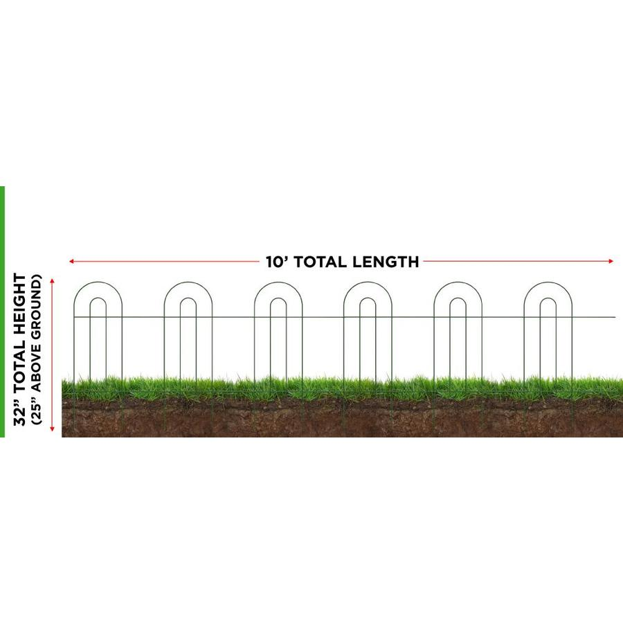 Garden Accents 2 Ft X 2 Ft Black Powder Coated Steel Landscape Edging Section In The Garden Fencing Department At Lowes Com