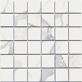Style Selections Calacatta White Uniform Squares Mosaic Porcelain Wall Tile (Common: 12-in x 12-in; Actual: 11.76-in x 11.76-in) 856989