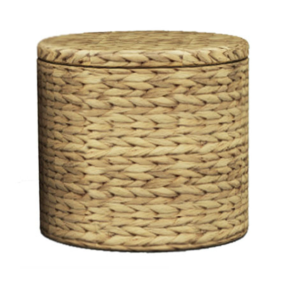 Shop Natural Round Storage Ottoman At Lowes Com