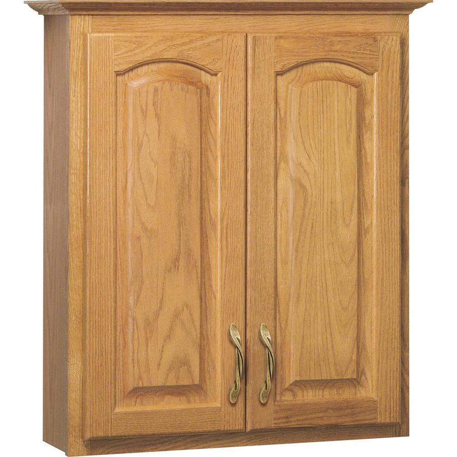 Shop Project Source Oak Storage Cabinet Common 25 5 In