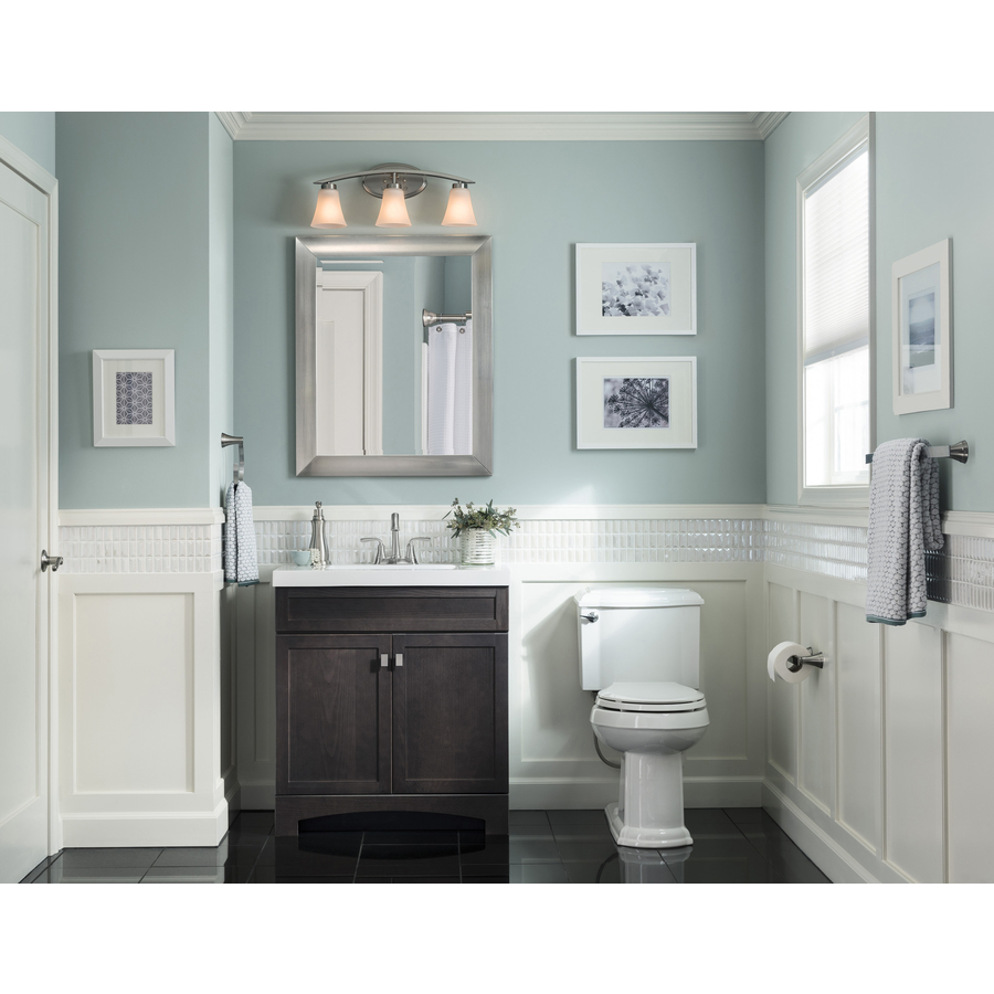 Style Selections Drayden 10.10-in Heirloom Single Sink Bathroom Vanity with  White Cultured Marble Top