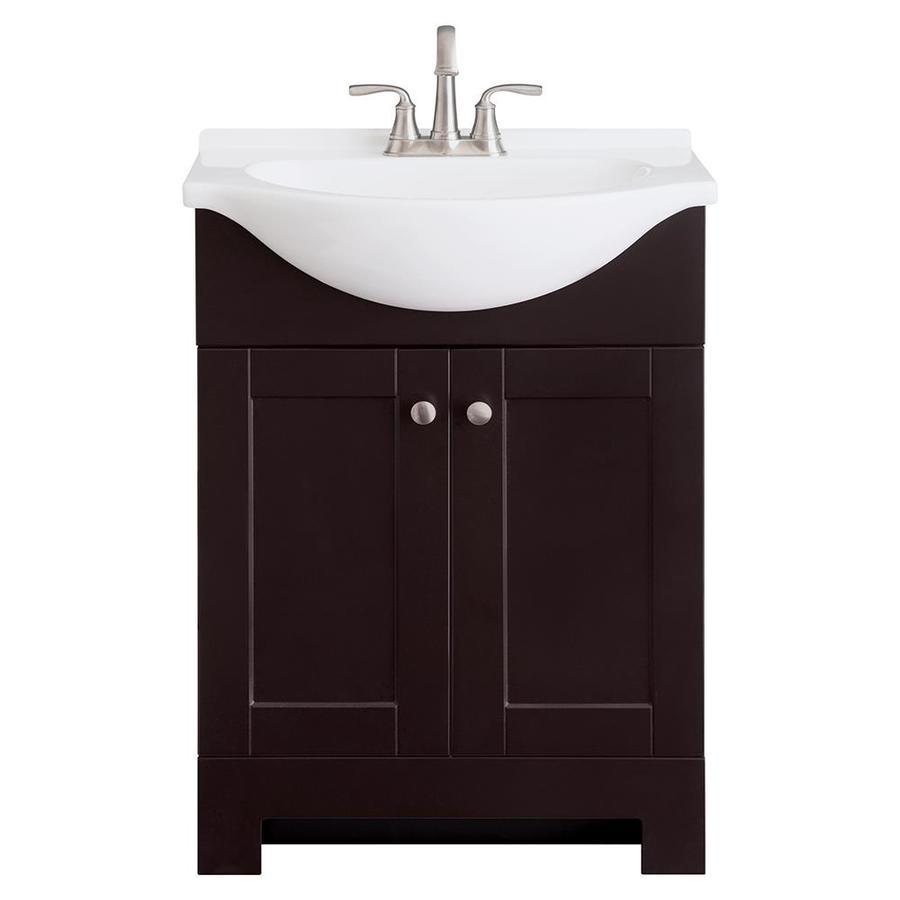 Espresso Single Sink Bathroom Vanity