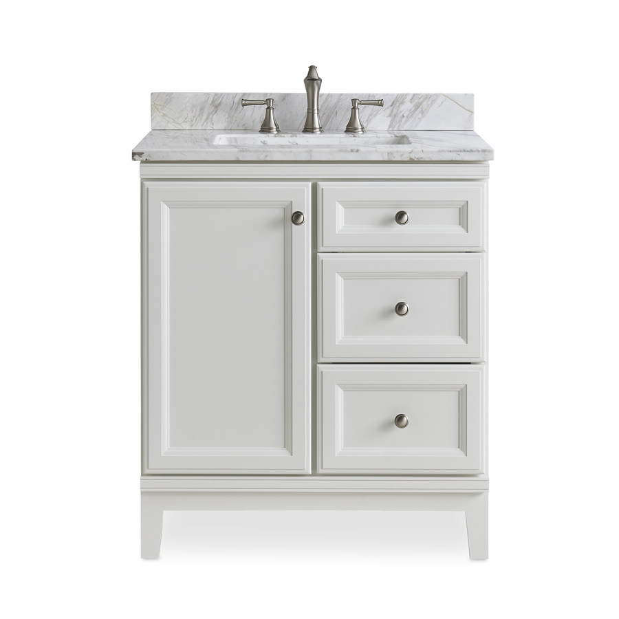 31 In Ariston Natural Marble Bathroom Vanity Top In The Bathroom Vanity Tops Department At Lowes Com