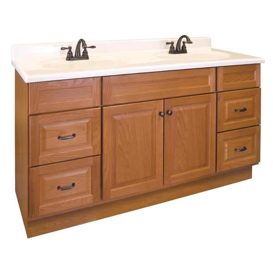 Project Source 60 In Golden Bathroom Vanity Cabinet In The Bathroom Vanities Without Tops Department At Lowes Com