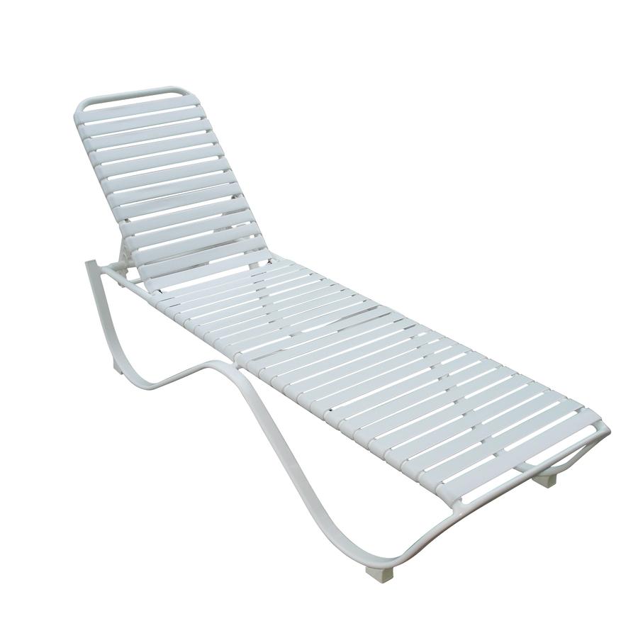 Shop Garden Treasures Strap Aluminum Patio Chaise Lounge