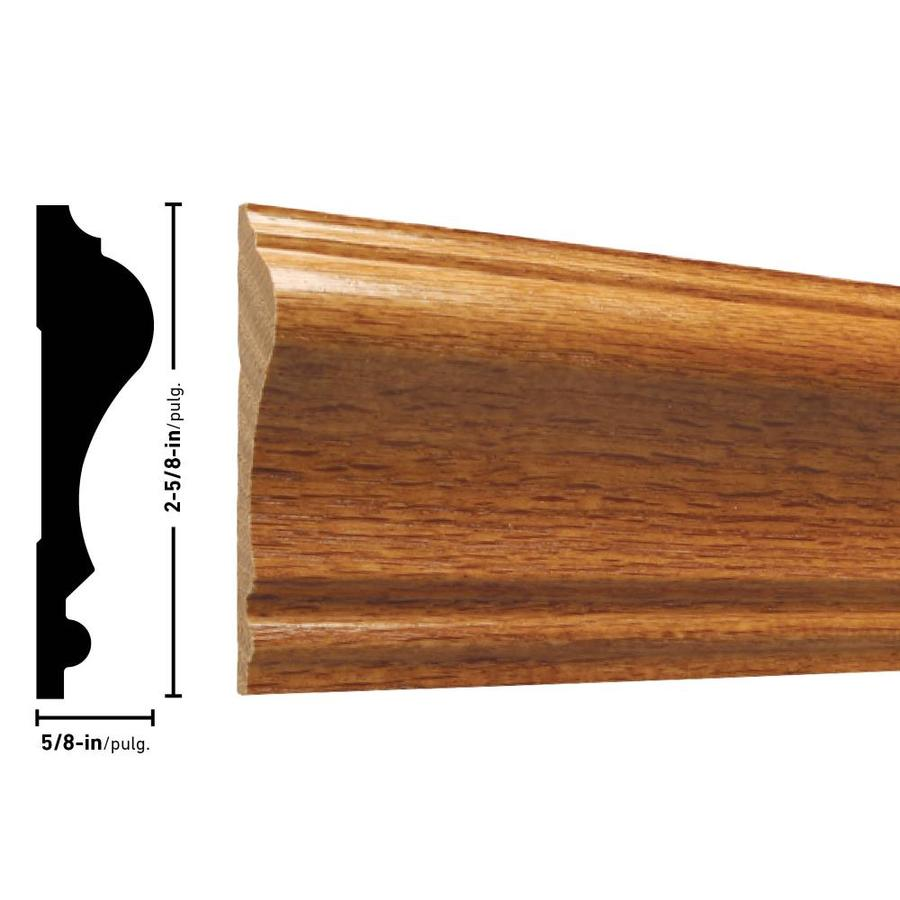 Colonial 2 5 8 In X 8 Ft Oak Stained Chair Rail Moulding In The Chair Rail Moulding Department At Lowes Com