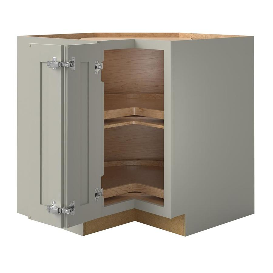 Allen Roth Stonewall 36 In W X 34 5 In H X 24 In D Stone Maple Lazy Susan Corner Base Semi Custom Cabinet In The Semi Custom Kitchen Cabinets Department At Lowes Com