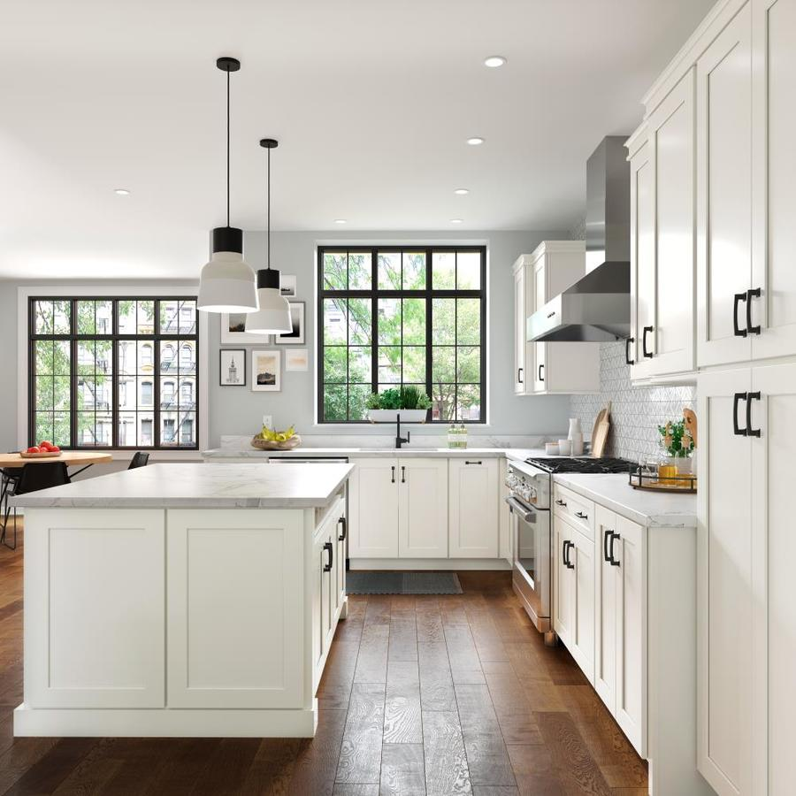 Allen Roth Aveley 33 In W X 12 125 In H X 12 In D Linen Maple Door Wall Semi Custom Cabinet In The Semi Custom Kitchen Cabinets Department At Lowes Com